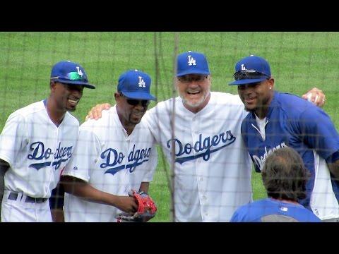 Martin Lawrence & Kelsey Grammer 1st Pitch @Dodgers 8-3-14