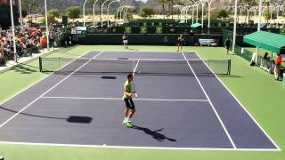 Andy Murray and Thanasi Kokkinakis Practice 2015 BNP Paribas Open Indian Wells