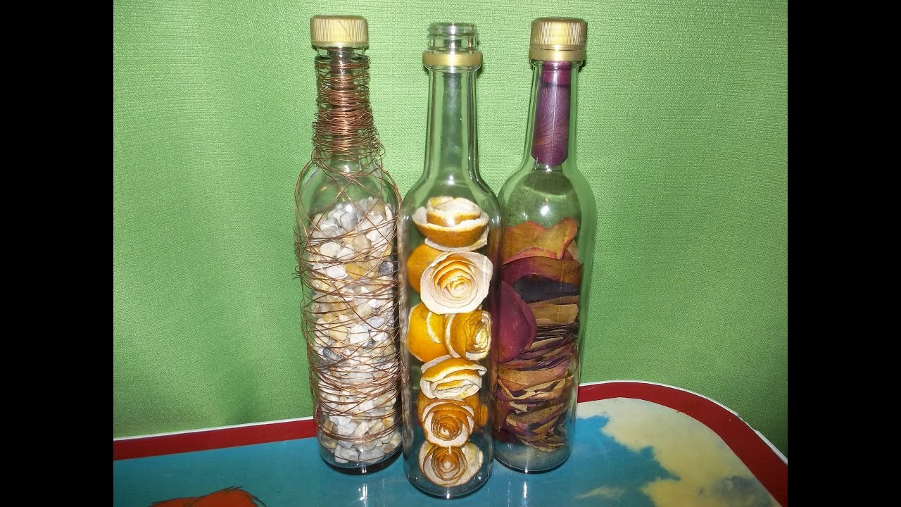 Botellas rellenas como cortar una botella de vidrio youtube - Botellas de cristal decoradas ...