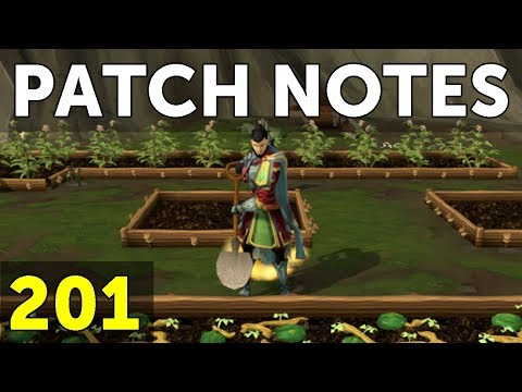 RuneScape Patch Notes #201 - 8th January 2018