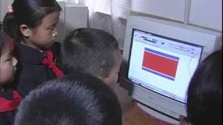 North Korean School Kids Learn How to Use a Computer