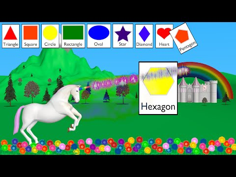 Shapes Unicorn - Learning for Kids