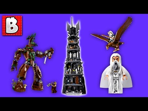 Lego Lord of The Rings The Tower of Orthanc Set 10237   Unbox Build Time Lapse Review