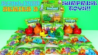 ULTIMATE ZOMLINGS SURPRISE BLIND BAGS TOYS OPENING SERIES 3 CRYSTAL HOUSES VIDEO