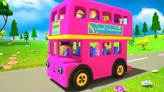 Pink Wheels On The Bus | Kindergarten Nursery Rhymes | Songs for Children