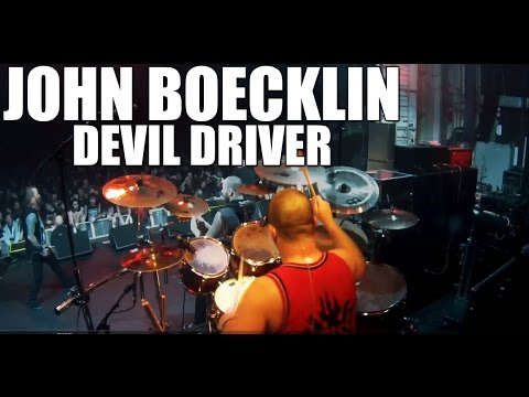 Devil Driver (John Boecklin) - 'Clouds Over California' live drum cam thumbnail