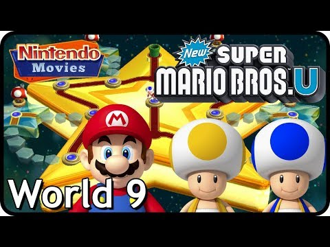 New Super Mario Bros. U: World 9 Superstar Road (All Star Coins 100% Multiplayer Walkthrough)