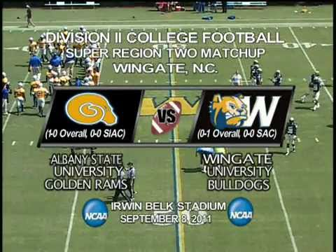 Wingate Football - Highlights from the Bulldogs 37-9 win over #16 Albany State (9/8/2012)