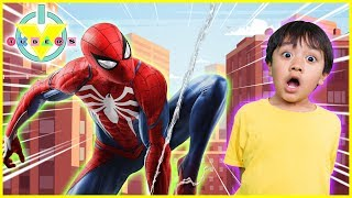 BRAND NEW MARVEL'S SPIDER-MAN Let's Play with Ryan & Daddy