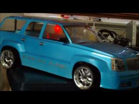 Escalade RC Drift car - MP3 player Sound system test .