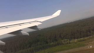 Take-Off from Frankfurt Airport A330 Lufthansa FRA-CCS