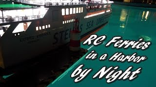 CVP - RC Ferries in a harbor by night