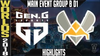 GEN vs VIT Highlights | Worlds 2018 Group B Day 1 | Gen.G(KoreaLCK) vs Vitality(EULCS)