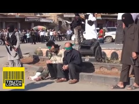 Public execution of three Syrians by Jihadist group in Raqqa - Truthloader
