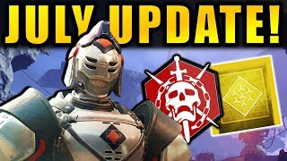 Destiny 2: NEW JULY UPDATE INFO! Free Content! Exotic Buffs! Prestige Raid Lairs!