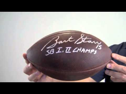 Bart Starr Autographed Football Bart Starr Autographed