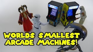 Tiny Arcade - World's Smallest Arcade Machines! Unboxing And Play Ms. Pac-Man