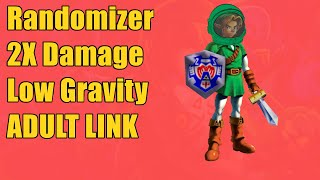 ADULT LINK in Majora's Mask, Low Gravity, RANDOM Enemies, All Items Shuffled Randomizer