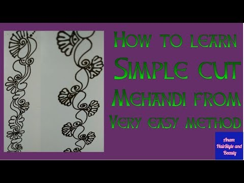 How to Make Simple Mehndi Design l Henna Tutorial l Anam Hairstyle and Beauty