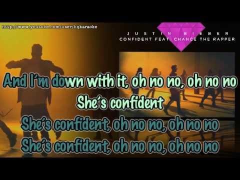 Justin Bieber - Confident Ft. Chance The Rapper [karaoke   Instrumental] video