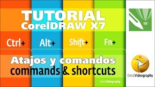 (BÁSICO) TUTORIAl 2 Corel DRAW X6, X7: Comandos y atajos prácticos/Commands & Shortcuts