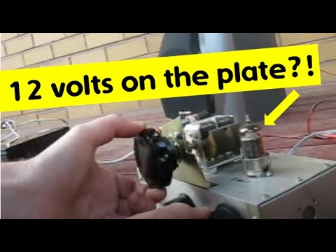 One valve regenerative receiver runs off 12 volts HT - Part 1