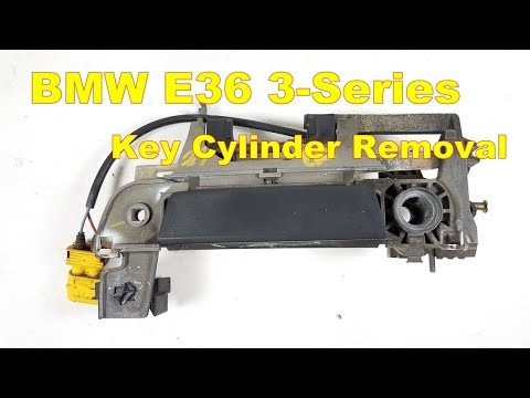 BMW e36 M3 325is 328is Exterior Door Handle Master Key Cylinder Removal