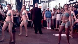 Rebtel Flash stunt- Bollywood Dancers Times Square 9.9.2015