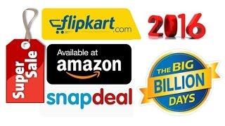 Flipkart Amazon Snapdeal - Festive Sale 2016 !! Special offers & Discounts