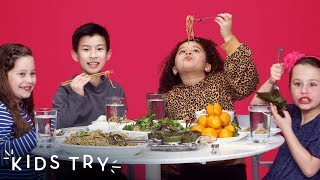 Kids Try Chinese New Year Food | Kids Try | HiHo Kids