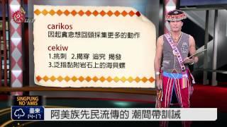 阿美族先民流傳的潮間帶訓誡 2015-02-08 TITV 原視族語新聞
