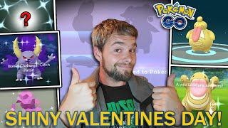 6 RARE SHINY POKEMON CAUGHT/ HATCHED! SHINY LICKITUNG RAID DAY! (Pokemon GO Valentines Day Event)