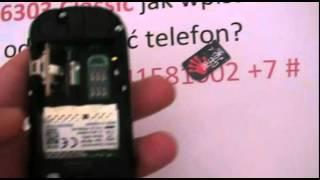 Simlock Nokia 6303 Classic jak wpisać kod -Odblokowanie simlocka