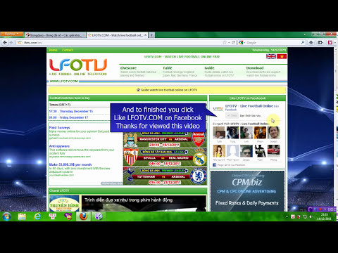 Guide watch live football online free vwith Sopcast