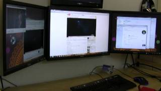3 DisplayLink USB Video Adapters On One System