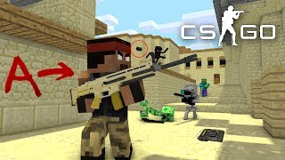 Monster School :  Herobrine's in Counter Strike VS Monster CS GO - Minecraft Animation