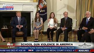SCHOOL GUN Violence In America: President Trump Talks To Survivors and Victim Families (FNN)