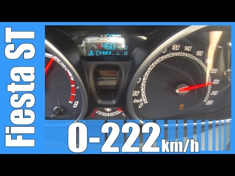 2014 Ford Fiesta ST 0-222 km/h FAST! Acceleration & Top Speed