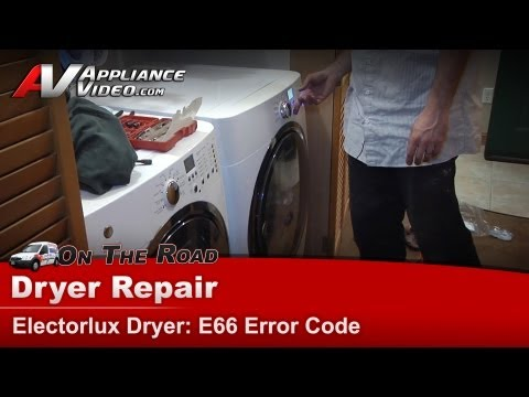 Dryer Diagnostic & Repair - E66 Error Code -Electrolux, Frigidare- EIGD55HIW0