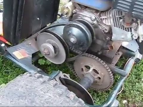 GO KART   HOW TO BUILD / make #5 ( clutch, torque converter by T-man ) █