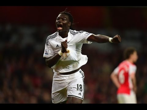 Arsenal vs Swansea 0-1 Highlights 2015 Bafetimbi Gomis LUCKY GOAL!!