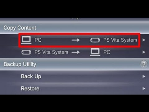 Update PS Vita System via connecting to a PC