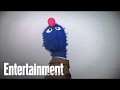 Cookie Monster and Grover Visit Entertainment Weekly