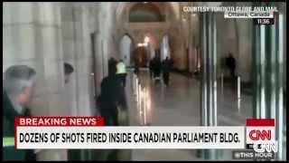 කැනඩා පාර්ලිමේන්තු පරිශ්රයේ වෙඩි හුවමාරුවක් Canada Under Attack: Soldiers Killed - Institutions On
