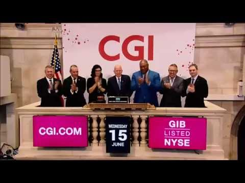 CGI marks 40th anniversary with ringing of the NYSE Closing Bell®
