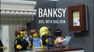 Banksy: girl with balloon shredded painting, Sotheby,s auction, parody by egodilego.com