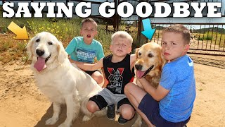 Saying Goodbye to Both Our Dogs 😢|| Mommy Monday