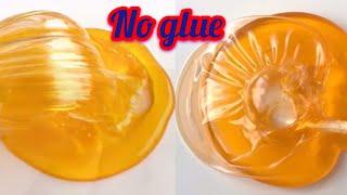 DIY GLOSSY FLUFFY SLIME using RAW EGG!! No Glue, No Shaving Foam, No Borax 😱!