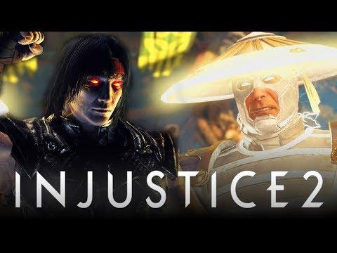 Injustice 2: ALL Raiden Intros w/ Mortal Kombat Character References! (Injustice 2: DLC Raiden)