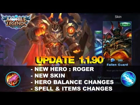 Mobile Legends - Update 1.1.90 Patch Note | New Hero&Skin, Hero&Item Balance Changes